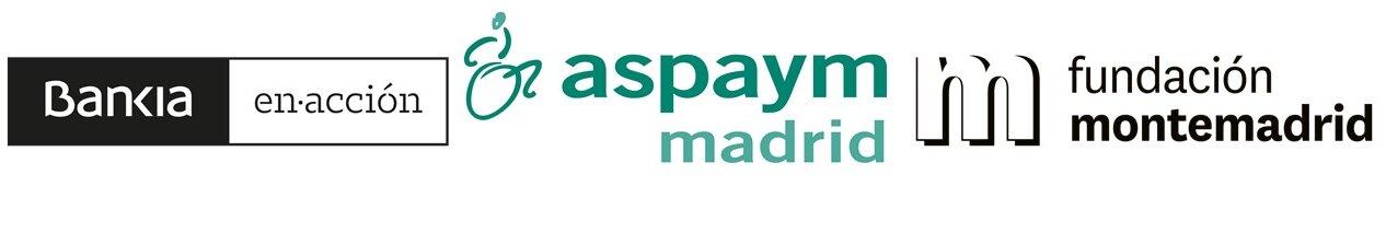 Logotipos de Bankia, Aspaym Madrid y Monte Madrid