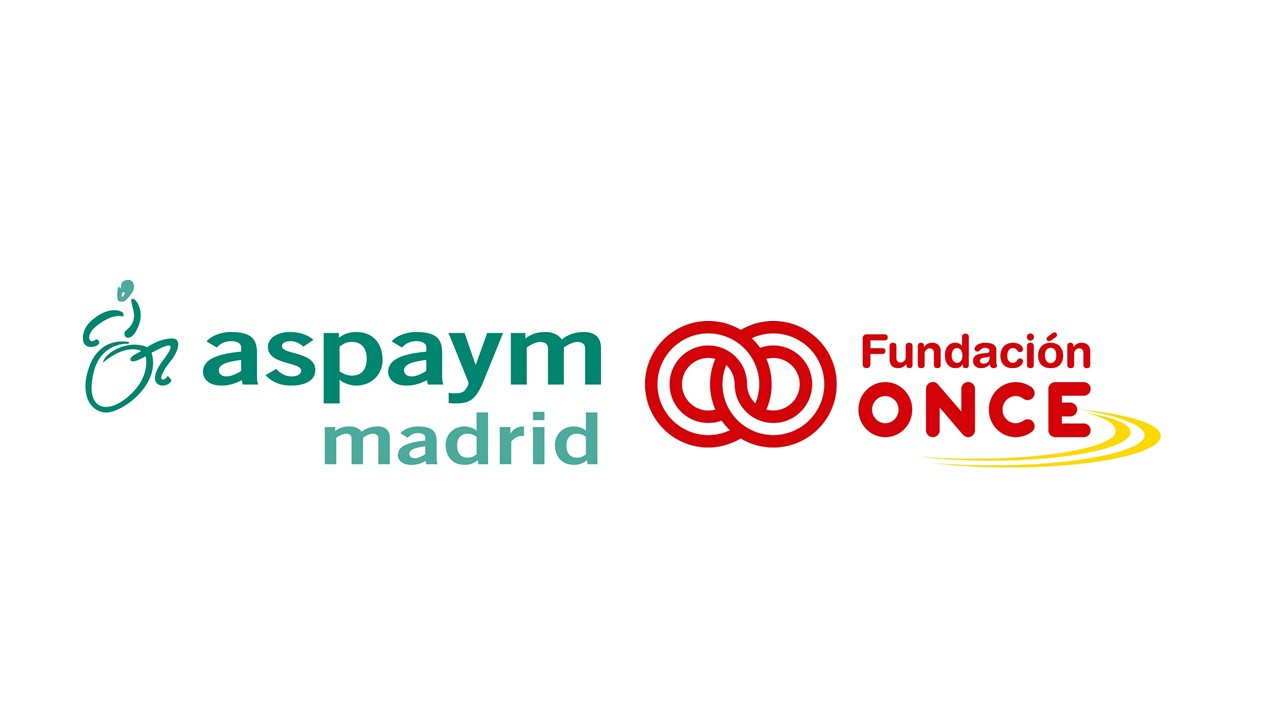 Logotipo de Aspaym Madrid y Fundación ONCE